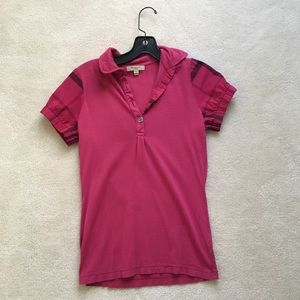 Burberry Pink Polo Size S